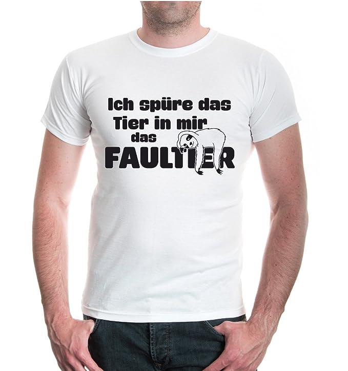 buXsbaum® T-Shirt Ich spüre das Tier in mir - das Faultier: Amazon.de:  Bekleidung