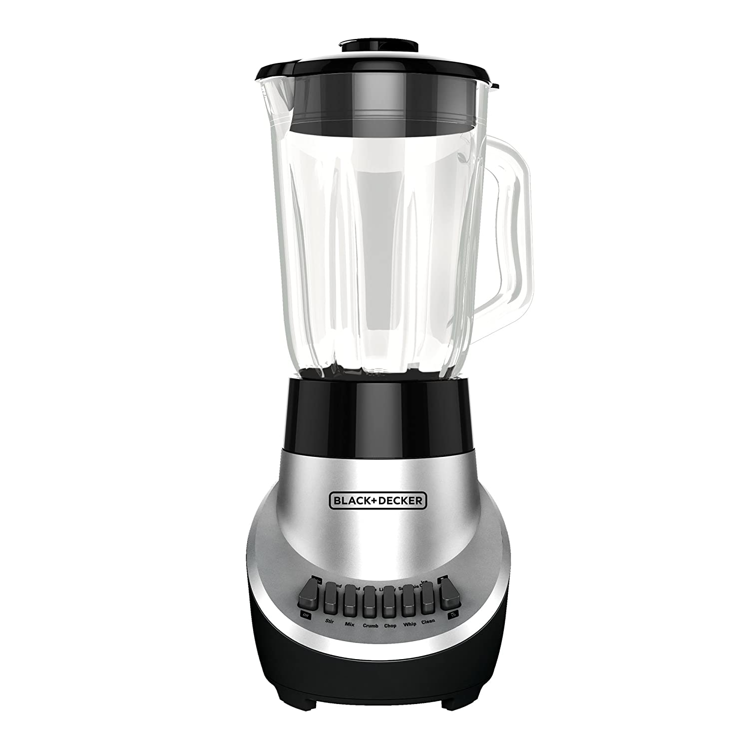 BLACK+DECKER BL1130SG FusionBlade Blender with 6-Cup Glass Jar, 12-Speed Settings, Silver Blender