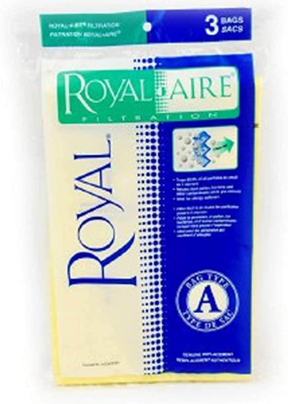 Royal Upright Vacuum Type A Aire Filtration Paper Bags 3 Pk Part - 3672075001