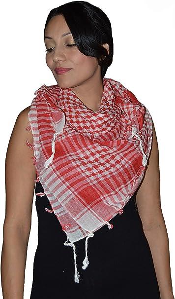 Shemagh Scarf Shawl Arab Fashion Scarf Purple Freedom Head Cover Red/&White