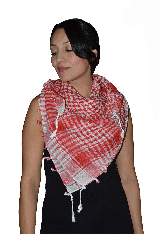 Shemagh Scarf Shawl Arab Fashion Scarf Purple Freedom Head Cover Red&White