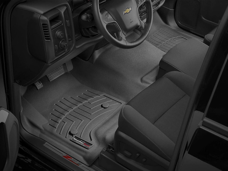 WeatherTech Custom Fit Rear FloorLiner for Select Volkswagen Models 440802 Black