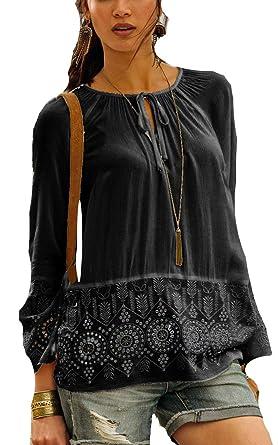 2c26d608c816b9 Versandhausware Hippie Boho Tunika Bluse schwarz mit Stickerei 962553 (38)