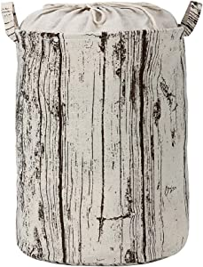 Six thousand li Clothes Laundry Hamper/Storage Basket/Toy Storage Bin/Water Proof Foldable Canvas Laundry Hamper Bedroom, Dorm or Laundry. (Coffee Color,Tree Pattern Design)