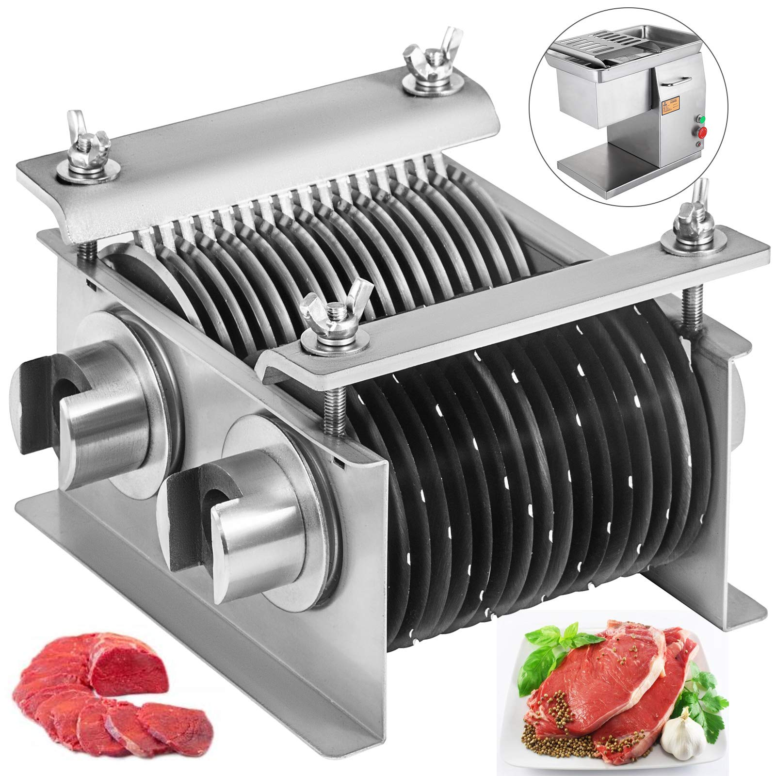 BestEquip One Set Blade 5mm for Desktop Meat Slicer 660 LB/H 500W Meat Cutting Machine 5mm Blade by BestEquip