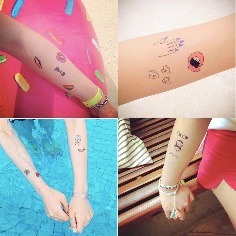 Foxjoy Temporary Tattoos, 200 Designs, 10 Sheets, 6x4 inches (Rapper) by Foxjoy (Image #2)