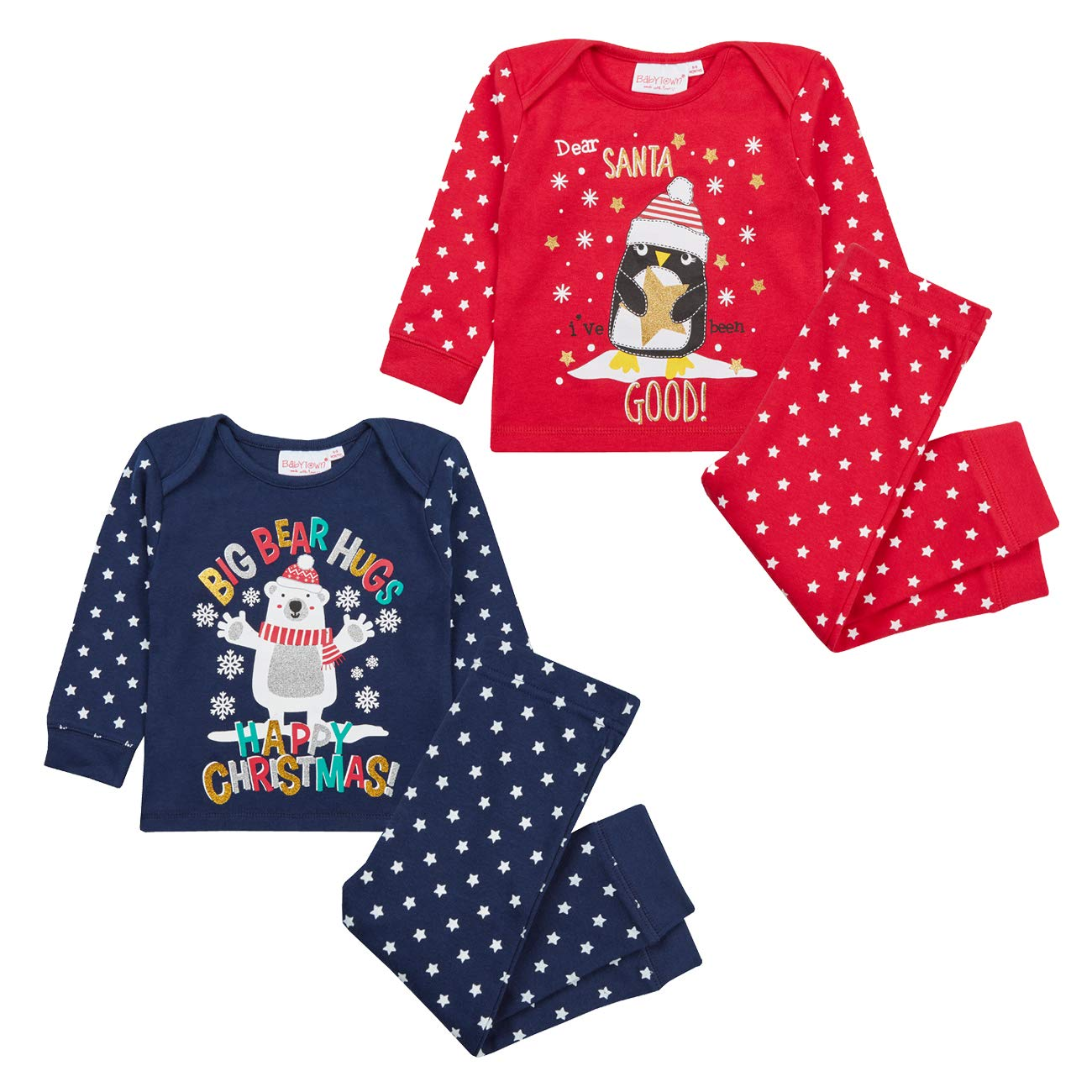 Metzuyan Baby Boys & Girls Christmas Long Sleeved Pyjama Set