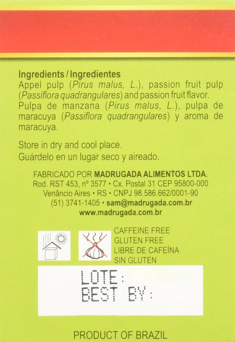 Passion Fruit Tea 10 tea bags - Chá de Maracujá 10 sachês - Madrugada - 0.5oz (15g) GLUTEN FREE - (PACK OF 04) by Madrugada (Image #5)