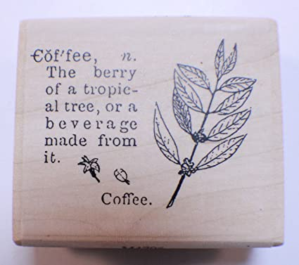 Stampington And Co Wooden Rubber Stamp Coffee Defined