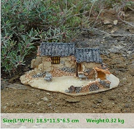 Jardín figuras en miniatura decoración de hadas resina antigua casa y decoración del hogar accesorios y decoración del coche: Amazon.es: Hogar