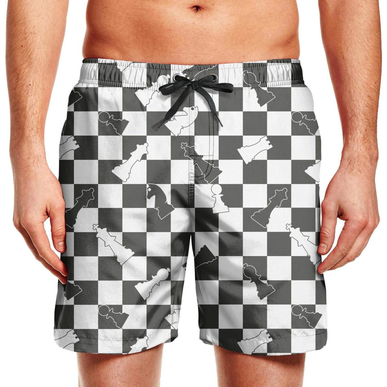fc51fb8e83 HJianyin Man Blue Square Frame Checkerboard Beach Shorts Swim Trunks  Swimming Shorts | Amazon.com