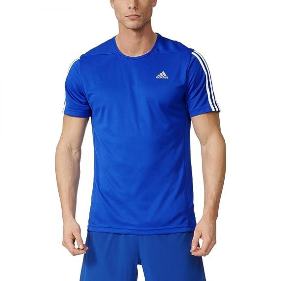 Adidas Camiseta Manga Corta Oz M Azul/Blanco L: Amazon.es: Ropa y accesorios