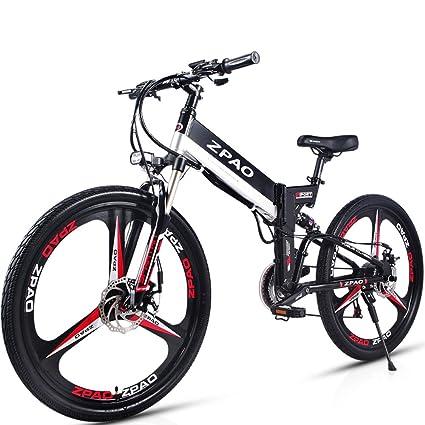 GTYW 26 Pulgadas Bicicleta Plegable Eléctrica Bicicleta De Montaña Adulto Bicicleta Eléctrico Litio Adulto Plegable Mini Motocicleta Eléctrica 90 Km ...