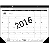 """AT-A-GLANCE Monthly Desk Pad Calendar 2016, Ruled, 21-3/4 x 17"""" (SK2400)"""