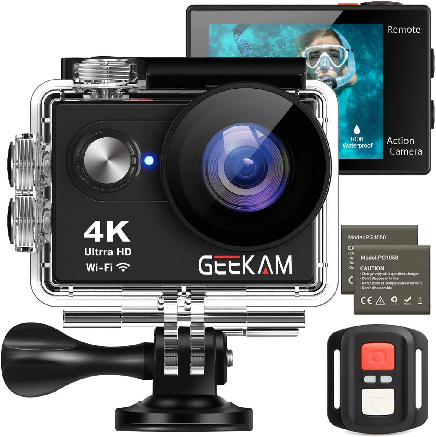 Geekam Action Cam 4k Wasserdichte 30m Unterwasser Wifi Kamera