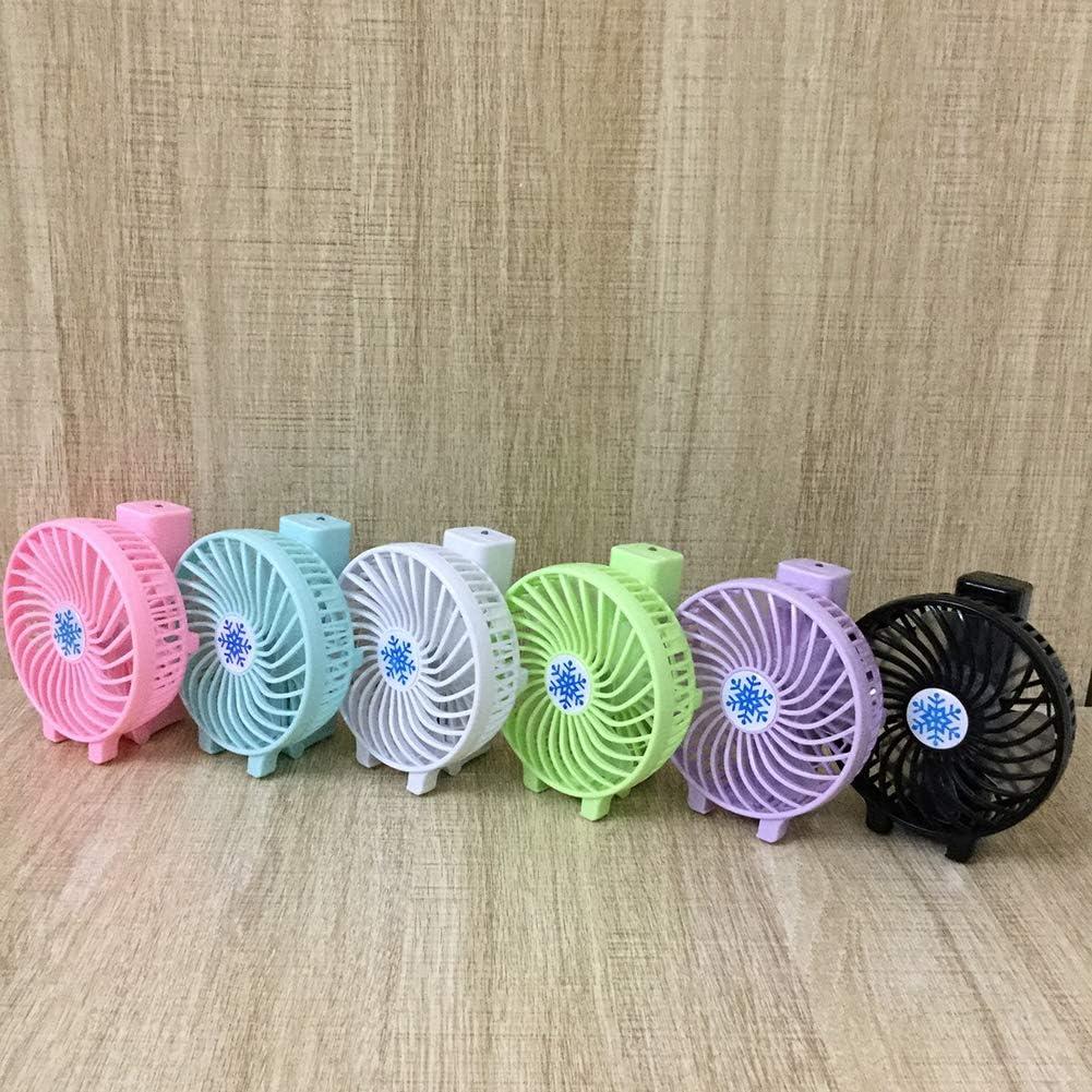 shengyuze Portable Fans Rechargeable Mini Fan Handheld Cooler Office Outdoor USB Charge Summer Foldable Desk Fan Purple