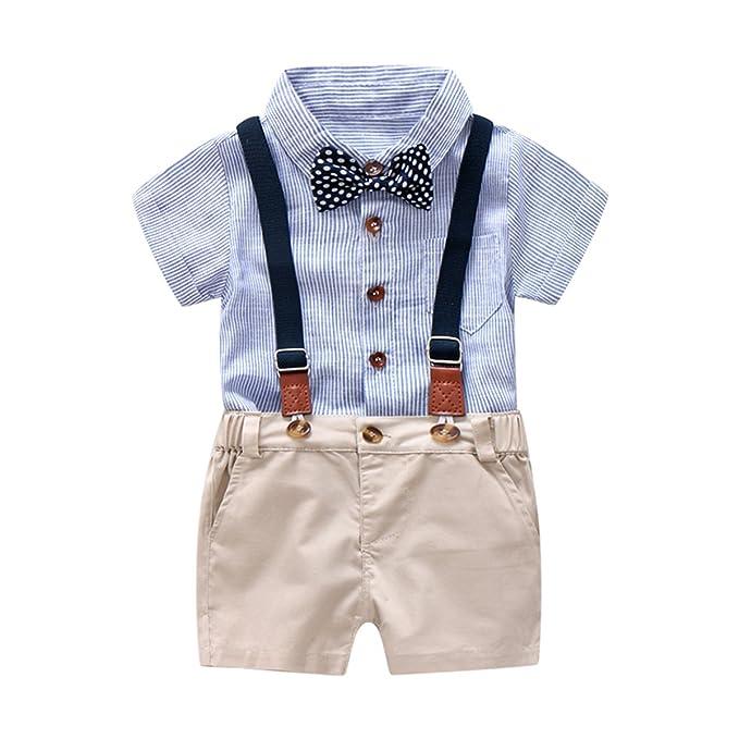 Amazon.com: Conjunto de ropa para caballero de bebé, camisa ...