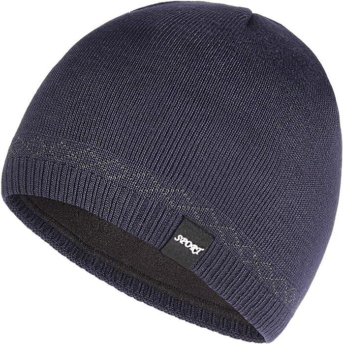 d58cd31e9 OMECHY Mens Winter Beanie Hat Warm Cuff Toboggan Knit Ski Skull Cap ...