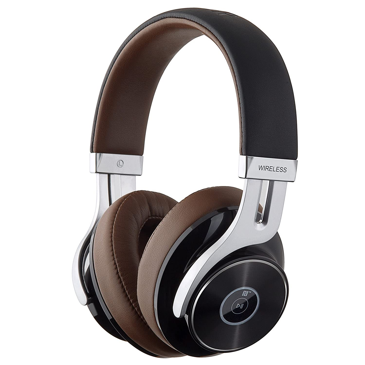 Edifier W855BT Bluetooth Headphones – Over-Ear Stereo Wireless Headphone with Microphone and Volume Control – Brown Black
