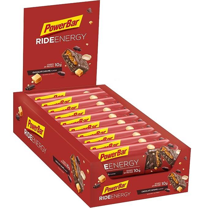 PowerBar Ride - Nutrición deportiva - Chocolate-Caramel 18 x 55g amarillo/rojo 2018