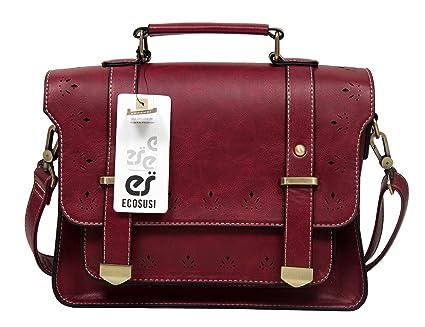 8ebe592067d8 ECOSUSI Women's Faux Leather Briefcases Messenger Bag Ladies ...