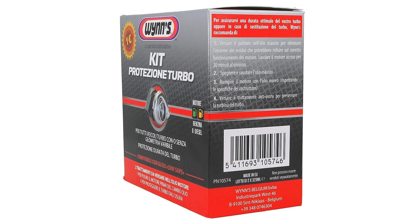 wynns Kit de protección Turbo (Oil System Cleaner de ML + Super Friction Proofing de ML): Amazon.es: Coche y moto