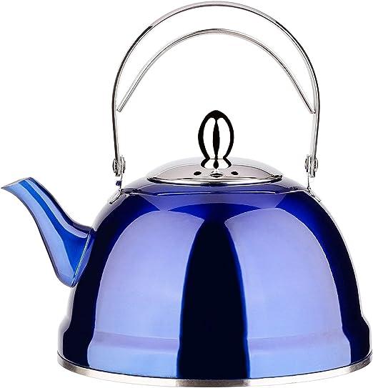 Amazon.com: Tetera con infusor de té suelto para estufa ...