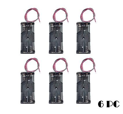 Amazon.com: WAYLLSHINE 6PCS 2 x 1.5V AAA Battery Spring Clip Black ...