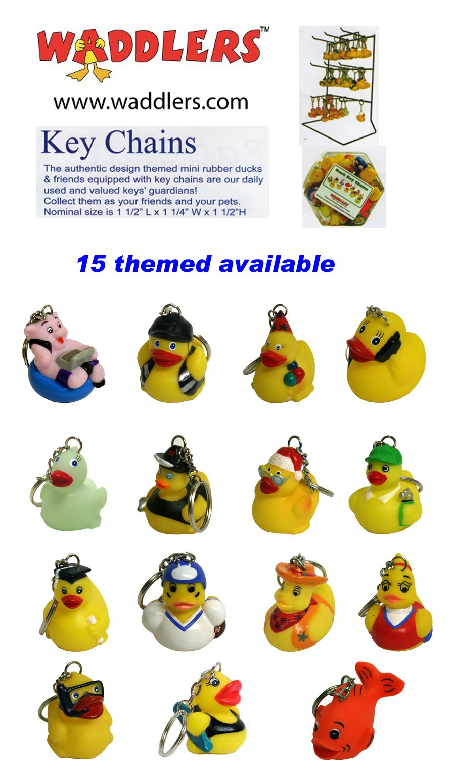 Hockey Rubber Ducks , Waddlers Brand, Bulk Pack 6,12,24,48,96 Pcs., Bath Rubber Toy Ducky Birthday Gift-all Depts. Hockey Player Deluxe Gift QTY (96) by Waddlers (Image #6)