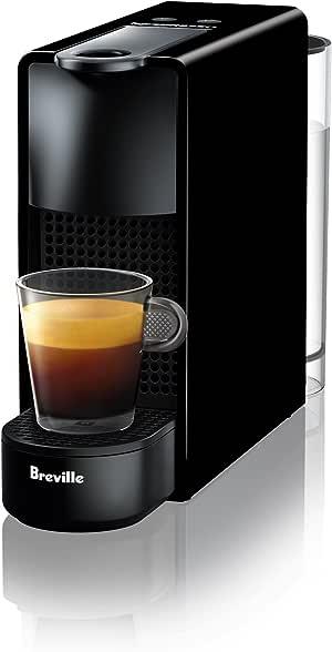 Breville Nespresso Essenza Mini Solo Coffee Machine, Piano Black, BEC220BLK