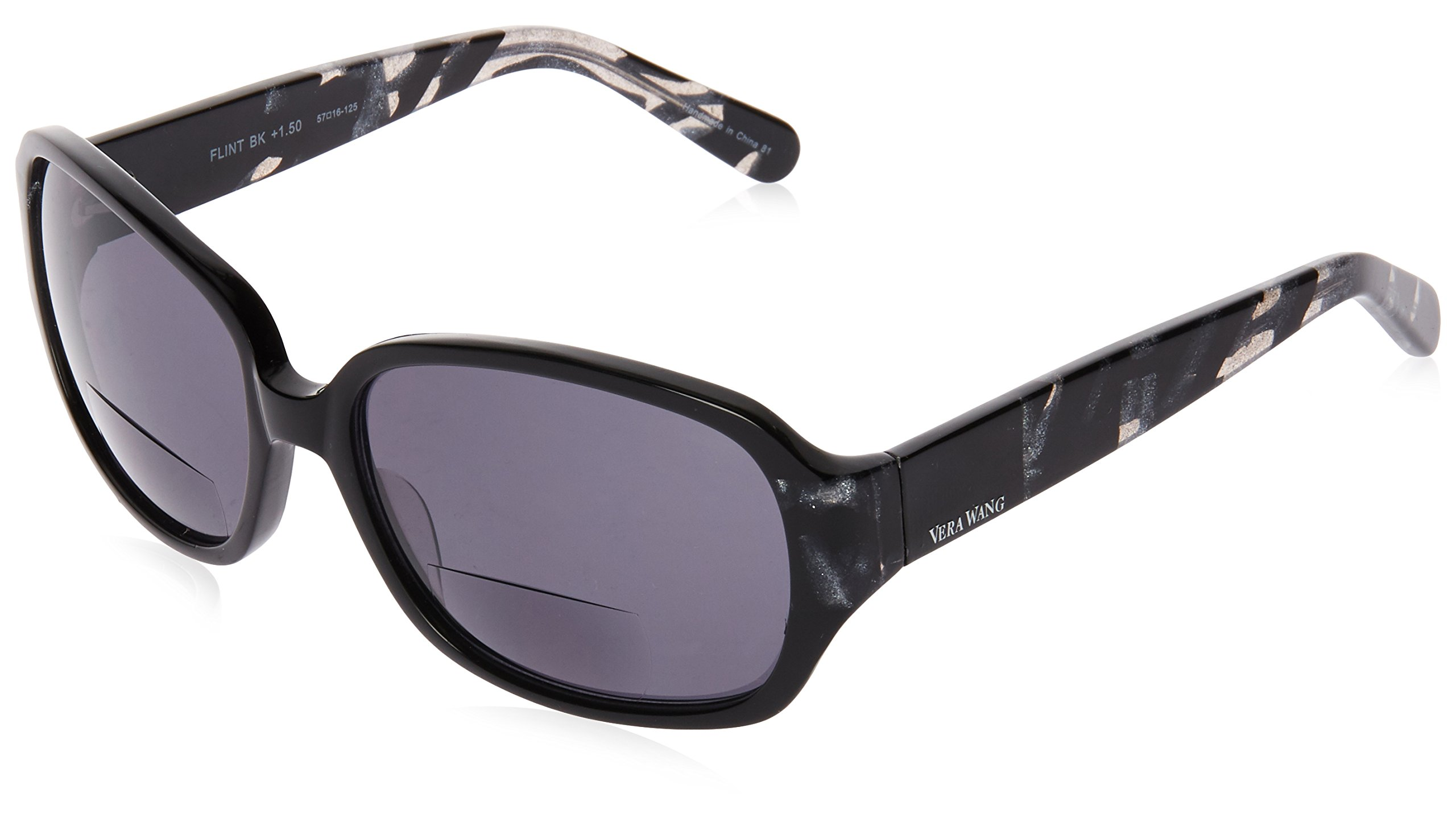 CDM product Vera Wang Women's Flint FLNTBK15 Square Reading Glasses, Black, 1.5 big image