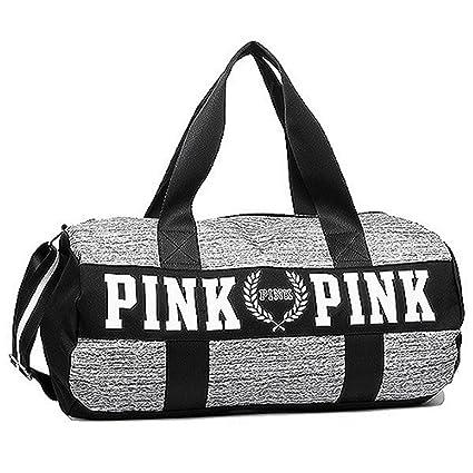 65cf9147f5d Amazon.com  VICTORIA S SECRET PINK DUFFLE TRAVEL WEEKENDER GYM BAG SHOULDER  BAG  Everything Else
