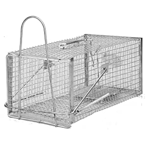 Seicosy (TM) Medium Rodent Trap, Iron Cage For Mouse, Rat, Hamster, Mole, Weasel, Gopher and More Small Rodents