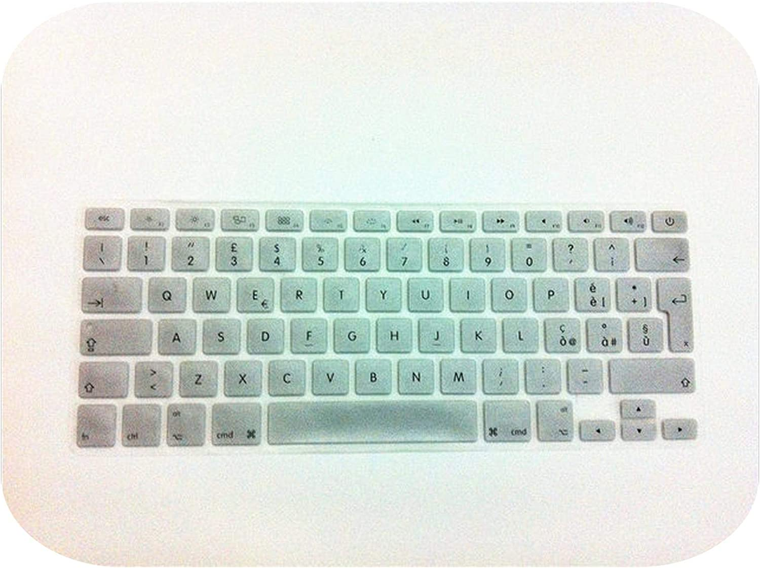 for MacBook Air 13 Pro 13 15 Retina 13 15 17 EU Italian Version Colour Soft Silicone Keyboard Protective Film-Orange