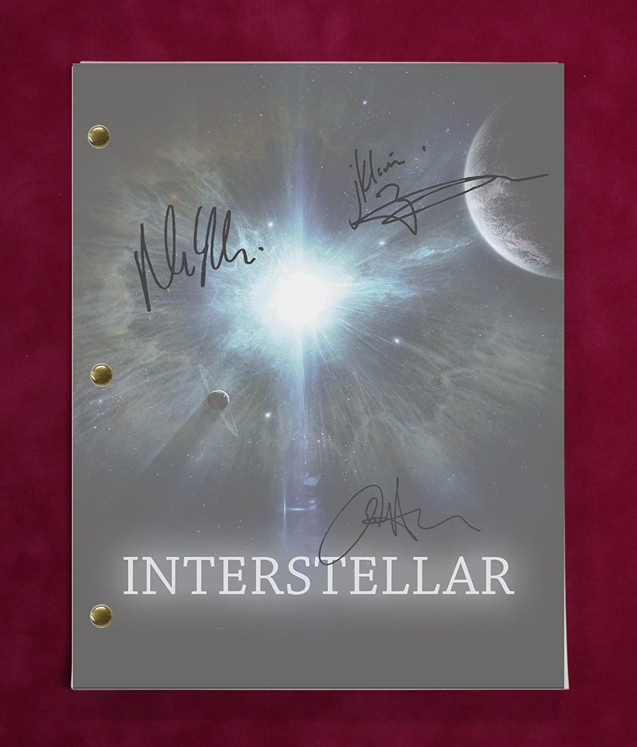 INTERSTELLAR SCRIPT WITH REPRODUCTION SIGNATURES McConaughey Hathaway Damon C3