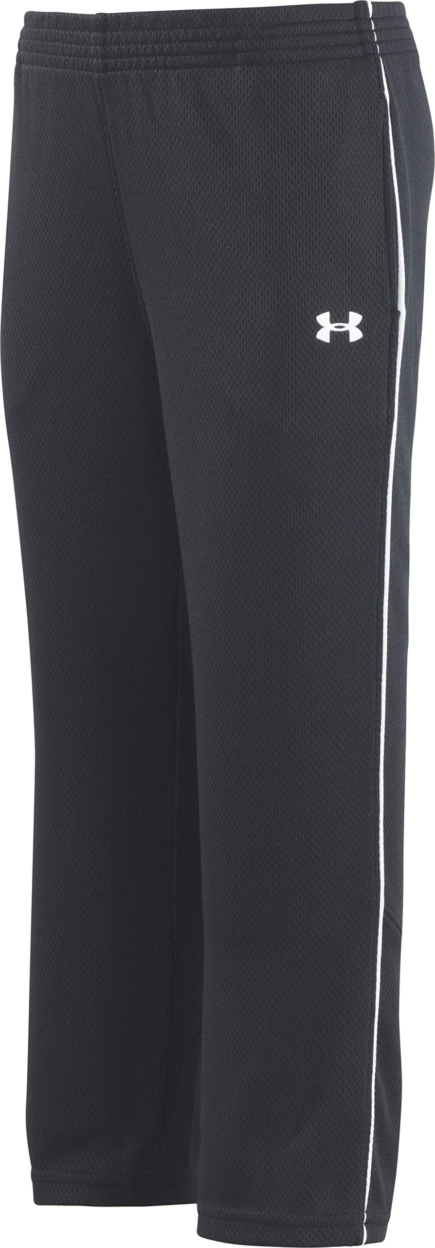 Under Armour Toddler Boys' Midweight Warm-Up Pant, Black, 2T by Under Armour