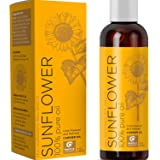 Pure Sunflower Oil Moisturizer for Face Body and Hair Cold Pressed Essential Oil Carrier for Aromatherapy Massage Anti…