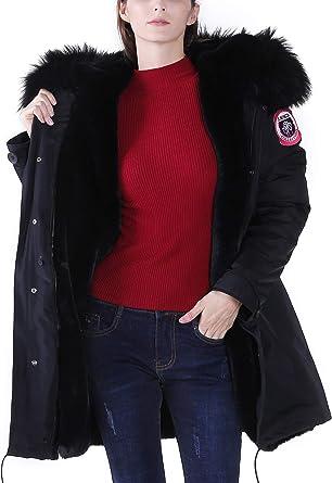 manteau femme col vraie fourrure