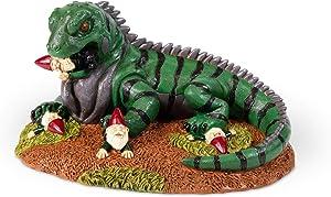 Kwirkworks Funny Garden Gnome - Iguana Attack Lawn Statue Figurine