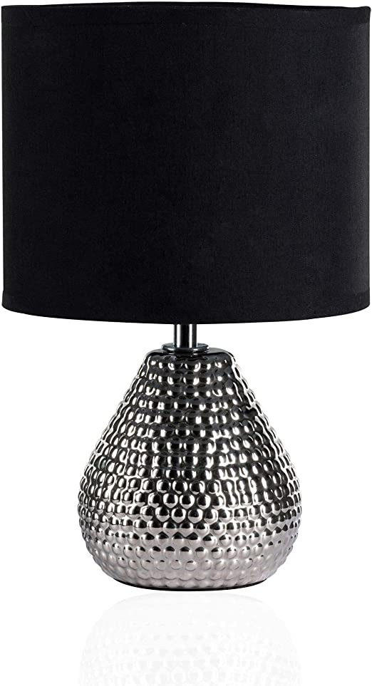 Lampada Da Comodino Argento.Pauleen Sip Of Silver 48018 Tavolo Max 20w E14 Lampada Da