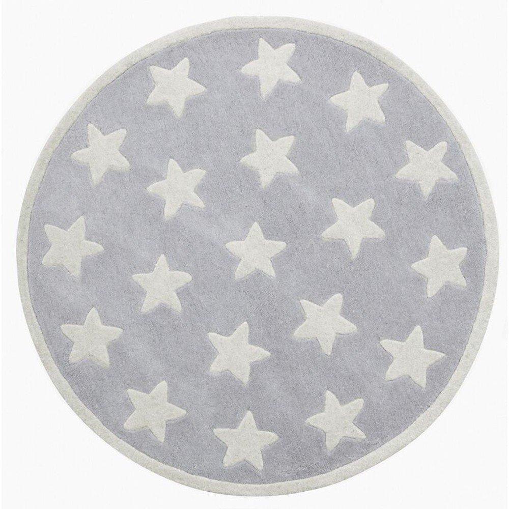 Kinderteppich sterne grau  Kids Concept 601831 Teppich Star grau, kl. Sterne 100% Wolle ...