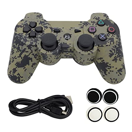 kinvida PS3 Bluetooth seis Axis Wireless juego controlador Gamepad Joypad mango mano Shank, Dual Shock