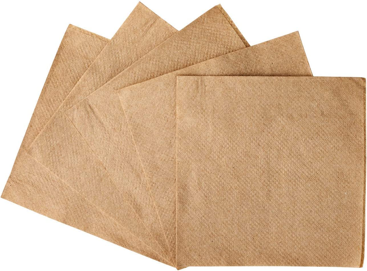 """Zenco Beverage and Cocktail Napkins - 1000 Pack 4.5"""" x 4.5"""" - Ideal for Birthday, Cocktail, Dinner, Lunch, Party, Wedding (Kraft, 1000)"""