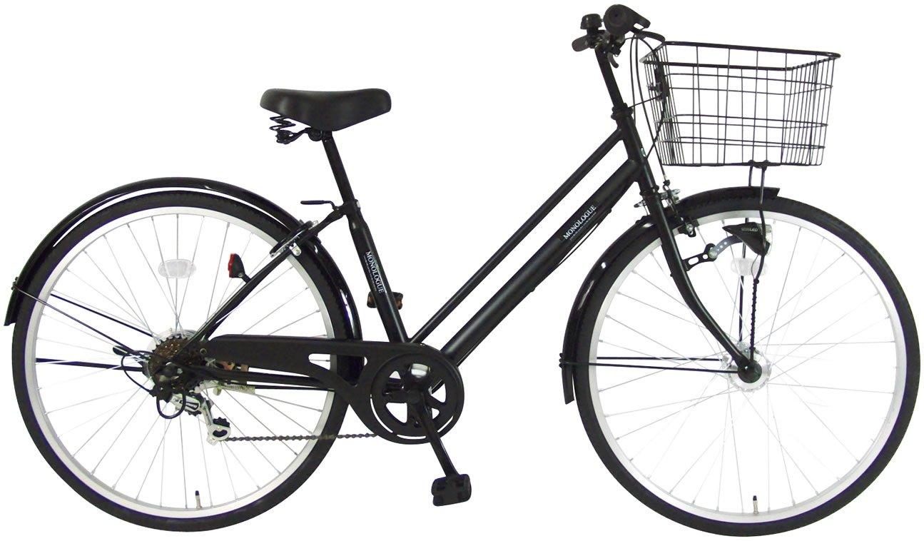 C.Dream(シードリーム) モノローグ オートライト K66-H 26インチ 自転車 シティサイクル ブラック 6段変速 100%組立済み発送 B072PS3VZ6