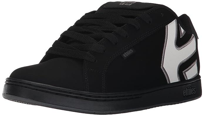 Etnies Fader Sneakers Skateboardschuhe Herren Schwarz (Weißes Logo)