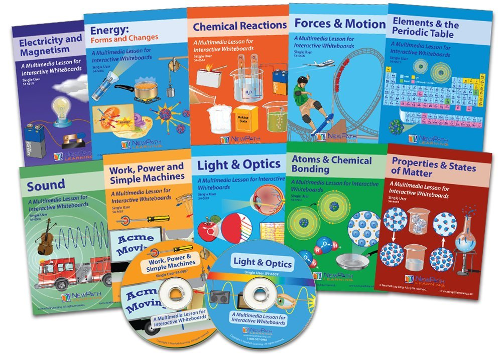 NewPath Learning 10 Piece Complete Physical Science Multimedia Lesson Set, Single User License (Renewed)