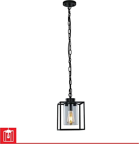 LEDPAX Technology Vintage Hanging Ceiling Pendant Light E26 Base Single Bulb Lantern