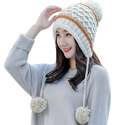 15474a13459 Amazon.com  Vovomay Womens Winter Beanie Hat and Scarf Set Warm ...