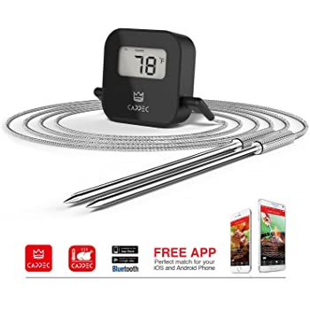 Amazon Com Cappec Bluetooth Digital Meat Thermometer For