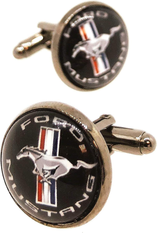 Boutons de manchette pour chemise Ford Mustang mod/èle 2 18 mm